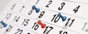 Calendario degli eventi di novembre