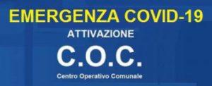 Istituito il Coc, Comitato Operativo Comunale