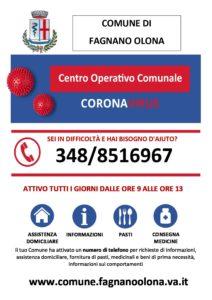 Attivo il numero del Centro operativo comunale