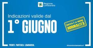 Nuova ordinanza regionale: le disposizioni valide in Lombardia dal 1° giugno