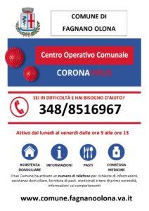 Numero Centro operativo comunale, nuovi orari