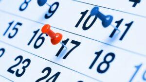 Calendario degli eventi per settembre e ottobre