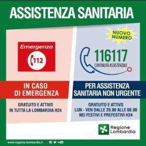 Assistenza sanitaria non urgente, nuovo numero 116117