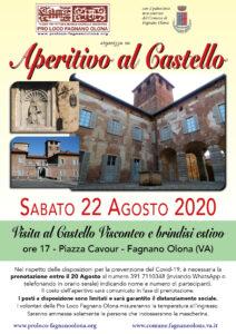 Visita e aperitivo al Castello sabato 22 agosto