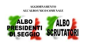 Aggiornamento Albo presidenti di seggio elettorale e Albo scrutatori