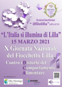 Giornata del fiocchetto lilla contro i disturbi alimentari – 15 marzo