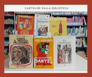Dantedì con le cartoline dalla biblioteca , celebrazione di Dante