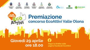 Concorso Ecoattivi Valle Olona, premiazione dei vincitori il 29 aprile