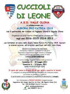 Corso di calcio per i Cuccioli di Leone