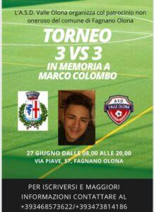 Torneo 3 vs 3 in memoria di Marco Colombo