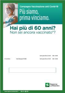 Progetto per l'aumento dell'adesione alla campagna vaccinale anticovid per i cittadini di età maggiore di 60 anni